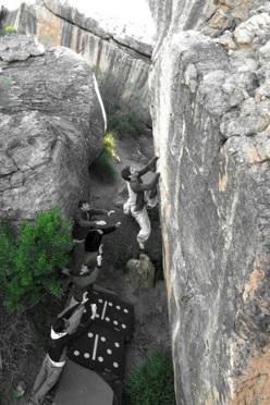 Mauro Calbani libera Sergio Leone 7B+, settore The Arc, Rocklands, Sudafrica