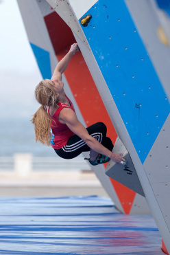 The second stage of the Bouldering World Cup 2014 at Baku: Shauna Coxsey