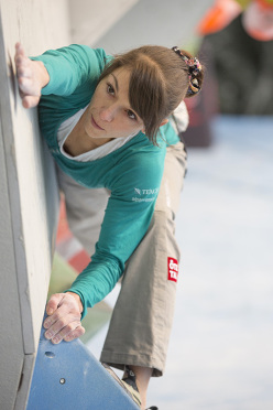 During the qualifying rounds of the 4th stage of the Bouldering World Cup 2014