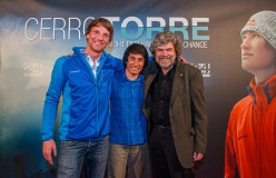 Peter Ortner, David Lama and Reinhold Messner