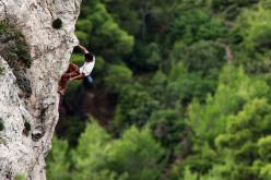Nikos Kodros climbing