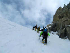 Ski mountaineering exam in Valle d'Aosta