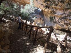 Il percorso di visita del villaggio nuragico di Tiscali