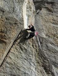 Le chiacchiere stanno a zero, 30m, RS1/6c max - Maurizio Oviglia 7 October 2008, Valle dell'Orco, Italy