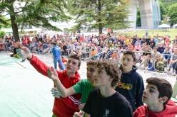 Durante il Campionato Italiano U20 ad Arco nel 2013