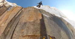 Andrey Lebedev and Vladimir Murzaev, Trango Towers BASE Jump, Pakistan
