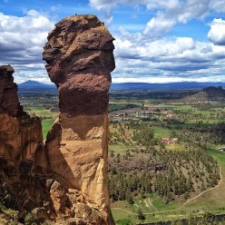 The Monkey Face at Smith Rocks, Oregon, USA, home to Just do It, the super route freed in 1992 by Jean-Baptiste Tribout
