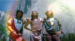 Billy Westbay, Jim Bridwell e John Long nel 1975 dopo la loro salita in giornata di The Nose, El Capitan, Yosemite.