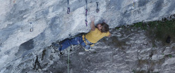 Alexander Megos climbing Modified 9a+, Frankenjura
