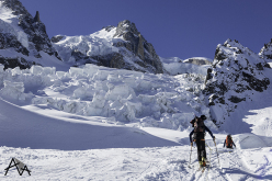 Il tentativo sul Monte Bianco: salendo verso la jonction