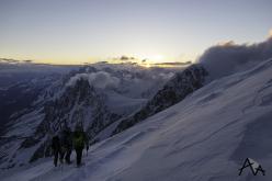 Il tentativo sul Monte Bianco: sulla spalla del Dome