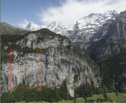 During the first ascent of Fly (8c, 550m Alexander Megos,Roger Schäli, Frank Kretschmann, David Hefti 04-08/2014), Lauterbrunnental, Switzerland.