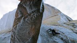 Scott Bennett sulla via Exocet, Cerro Standhardt, Patagonia