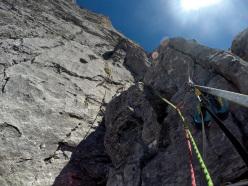 A dream corner: Silvan Schüpbach & Luca Schiera making the first ascent of El Gordo (6c/7a, 450m) on Wendenstöcke, Switzerland