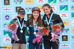 Haiyang, China Lead Women's podium: Magdalena Röck, Jain Kim, Anak Verhoeven