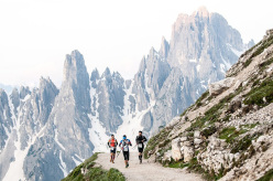 Durante il The North Face Lavaredo Ultra Trail 2014
