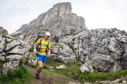 Croda da Lago during the The North Face Lavaredo Ultra Trail 2014