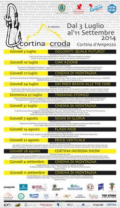 Dal 3 luglio all'11 settembre 2014 si svolgerà a Cortina d'Ampezzo la sesta edizione di CortinaInCroda