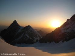 Monte Zebrù -Tramonto dal Giogo Alto verso la P. Thurwieser