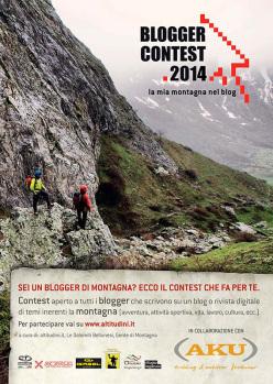 Blogger Contest 2014, la mia montagna nel blog per testi pubblicati dal 1 giugno al 10 settembre 2014