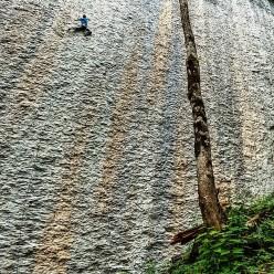 Jonathan Siegrist climbing Speed, Voralpsee, Switzerland