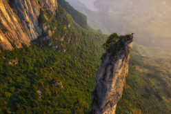 Incredible limestone needles in China.