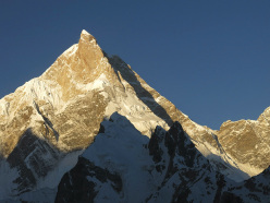 The unclimbed northeast face of Masherbrum (7821m), Pakistan