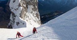 Climbing the Fasana face, Grigna Settentronale
