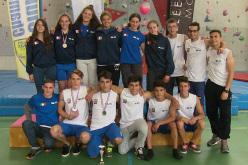 La squadra italiana giovanile Speed a Chamonix.