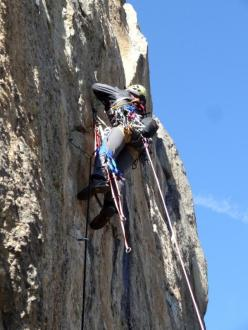 The amazing traverse on pitch 3