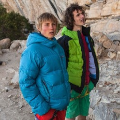 Alexander Megos and Adam Ondra at Ceuse in France