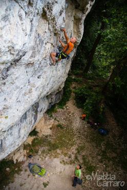Massimo Battaglia climbing Adelante companeros