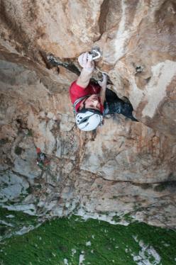 Lukas Binder e Florian Hagspiel durante la prima salita di Freedom of Movement (7c, 200m) Monte Gallo, Sicilia