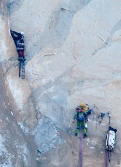 Diego Pezzoli e Roberto Iannilli su Tangerine Trip, El Capitan, Yosemite
