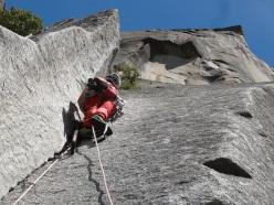 Roberto Iannilli repeating Tangerine Trip, El Capitan, Yosemite