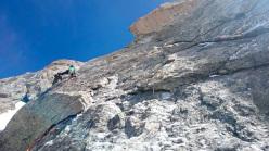 Cœurs de géants (Christopher Baud, Brice Bouillanne, Jonathan Charlet 29/06/2014) Dents de Géants, Mont Blanc