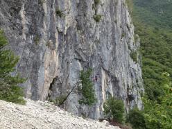 The beautiful crag Ventaglio, Friuli Venezia Giulia, Italy