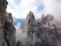Splendid view onto Campanile Alto, Brenta Dolomites