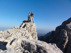 On the summit of the Torre delle Val Perse, in 2011