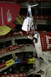 Una fase della seconda tappa della Coppa del mondo di arrampicata su ghiaccio 2007