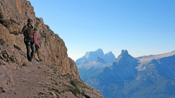 Sentiero Olivieri, an easy equipped path above Cortina