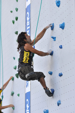 Urko Carmona Barandian competing at the Paraclimbing World Championship 2011 at Arco