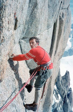The Ragni di Lecco climber Angelo Zoia on Grand Capucin
