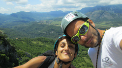 Wasted years (115 m, 7c or 6c/A0, RS3, Riccardo Quaranta, Agnese Flavi) Monte della Foresta, Molise: on the summit