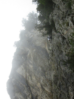 Wasted years (115 m, 7c or 6c/A0, RS3, Riccardo Quaranta, Agnese Flavi) Monte della Foresta, Molise: establishing pitch 1