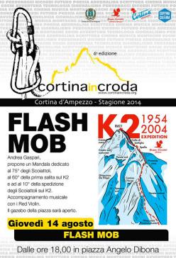 Giovedì 14 agosto torna a Cortina InCroda il Flash Mob: l'artista ampezzano Andrea Gaspari proporrà una nuova performance.