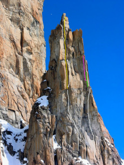 The SW Face of Trident du Tacul