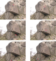 Kevin Jorgeson miraculously surviving a fall off Gaia E8 6c, Black Rocks, Peak Distict, England. The American climber then checked the moves on toprope and sent the route.