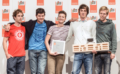 Patxi Usobiaga and the entire Zlagboard team winning at Friedrichshafen.