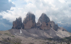 The magnificent Tre Cime di Lavaredo, Dolomites